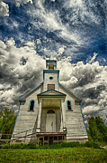 40mm Framed Prints - The Squaw Bay Church Framed Print by Jakub Sisak
