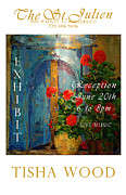 Red Geraniums Digital Art Posters - The St Julien Poster Poster by Tisha Wood