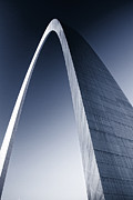 Jefferson National Expansion Memorial Posters - The St Louis Arch duotone Poster by Garry McMichael