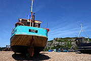 Trawler Metal Prints - The Stade Hastings Metal Print by James Brunker