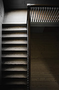 Wooden Stairs Posters - The Staircase Poster by Margie Hurwich