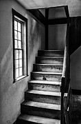 Sturbridge Village Framed Prints - The Stairs BW Framed Print by Karol  Livote