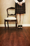 Plaid Skirt Framed Prints - The Stand Framed Print by Margie Hurwich