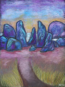 Standing Pastels Framed Prints - The Standing Stones Framed Print by Diana Haronis
