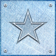 Cowboys Digital Art Metal Prints - The Star Metal Print by Cristophers Dream Artistry