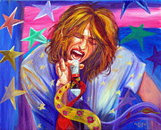 American Singer Paintings - The Star Is Born by To-Tam Gerwe