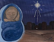 Star Of Bethlehem Painting Prints - The Star Leads to Jesus Print by Amanda Roberts