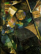 Oil On Cardboard Prints - The Star Picture 1920 Print by Kurt Schwitters
