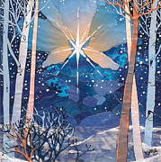 Manger Mixed Media Posters - The Star Poster by Robin Birrell