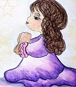 Child Jesus Drawings - The Star Still Shines by Eloise Schneider