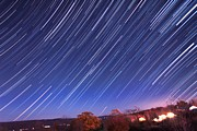 Creating Prints - The star trail in Ithaca Print by Paul Ge