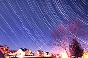 Sweet Kiss Prints - The star trails Print by Paul Ge