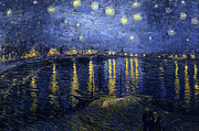 Starry Night Art - The Starry Night 1888 by Vincent van Gogh