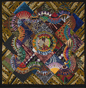 Patchwork Quilt Tapestries - Textiles Posters - The Stars Come Out Poster by Aisha Lumumba