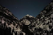 Snow Covered Mountains Prints - The Stars Over Ouray Colorado Print by Jeff  Swan