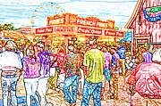 Fries Digital Art Posters - The State Fair Poster by David Schneider