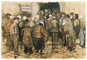 Impressionism Drawings Prints - The State Lottery Office Print by Vincent Van Gogh