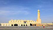 Qatar Metal Prints - The State Mosque in Doha Qatar Metal Print by Paul Cowan