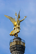 Bronce Metal Prints - The Statue Of Victoria - Victory Column - Berlin Germany Metal Print by Colin Utz