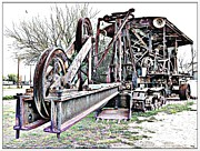 Antique Digital Art Prints - The Steam Shovel Print by Glenn McCarthy Art and Photography
