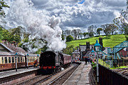 Platform. Level Prints - The Steam Train Departing at  Print by David  Hollingworth