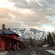 Steamboat Digital Art Prints - The Steamboat Depot Print by Daniel Hebard