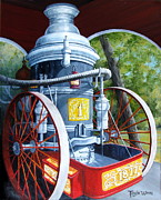 Machinery Painting Prints - The Steamer Print by Tanja Ware