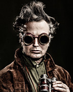 Character Portraits Photo Posters - The Steampunk - Sci-Fi Poster by Gary Heller