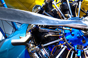 Propellers Prints - The Stearman Jacobs Aircraft Engine Print by David Patterson