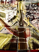Roads Mixed Media - The Steep City by Russell Pierce