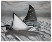 Endangered Pastels Prints - The Sting Ray Shuffle Print by Bob Timmons