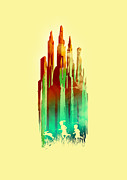 Landscapes Digital Art Metal Prints - The stone castle Metal Print by Budi Satria Kwan