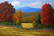 Frank Wilson Prints - The Stone Gate in Autumn Print by Frank Wilson