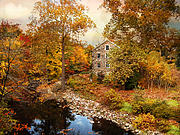 Bronx Digital Art - The Stone Mill in Autumn by Jessica Jenney