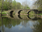 River Scenes Photos - The Stonearch Bridge by Andrew Govan Dantzler