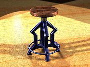 Giuseppe Epifani Metal Prints - The stool twin Metal Print by Giuseppe Epifani