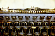 Typewriter Keys Photo Prints - The Story Told 2 Print by Angelina Vick