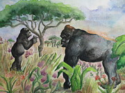 Flora And Fauna Painting Originals - The Storyteller by Lynn Maverick Denzer