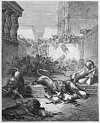 Christianity Drawings - The Strange Nations Slain by the Lions Of Samaria  by Oprea Nicolae