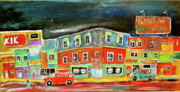 Litvack Naive Art - The Street by Michael Litvack