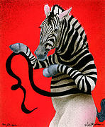Zebras Posters - The Stripper... Poster by Will Bullas