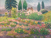 Cedars Paintings - The Studio Garden by Wiley Purkey