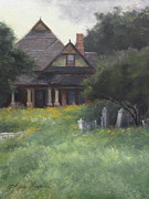 Historic Home Painting Prints - The Sullivan House Print by Anna Bain