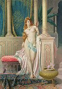 Nude Framed Prints - The Sultans Favorite Framed Print by Frederico Ballesio