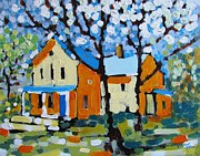 Side Porch Paintings - The Summer House by Marc L Gagnon