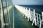 Boat Cruise Photo Posters - The Sun Deck Poster by Anne Gilbert