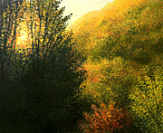 Tree Art Paintings - The Sun Hour by Kiril Stanchev