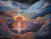 Crater Lake Paintings - The Sun of Righteousness Risen with Healing in His Wings by Kathleen Luther