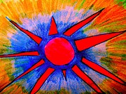 Color Pencil And Pencil Drawings - The Sun Says Hello by Allen n Lehman