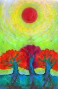 Psychedelic Pastels - The Sun Three by Wojtek Kowalski